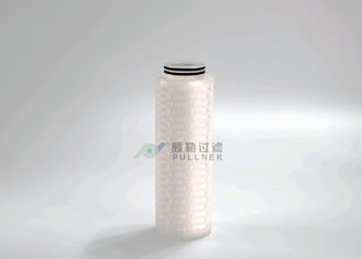 China Bacteria Microelectronics Filter Cartridge PTFE Pleated Hydrophobic OD 69mm supplier