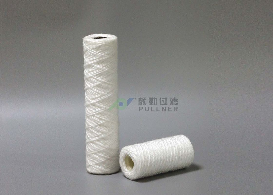 Cotton String Wound Filter Cartridges 5micron For RO Water Pre - Treatment