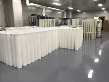 "China 6"" Diameter Pleated Filter Cartridge 99.8% Efficiency Industrial Water Filter factory"